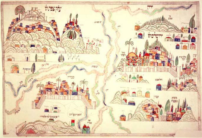 A 19th-century depiction of the Four Holy Cities of Israel. (Photo: Wikimedia)