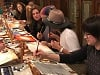 Painting and silkscreen workshop with Yitzchak Moully for the young women of Chabad
