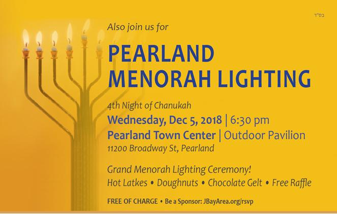 Pearland Menorah Lighting