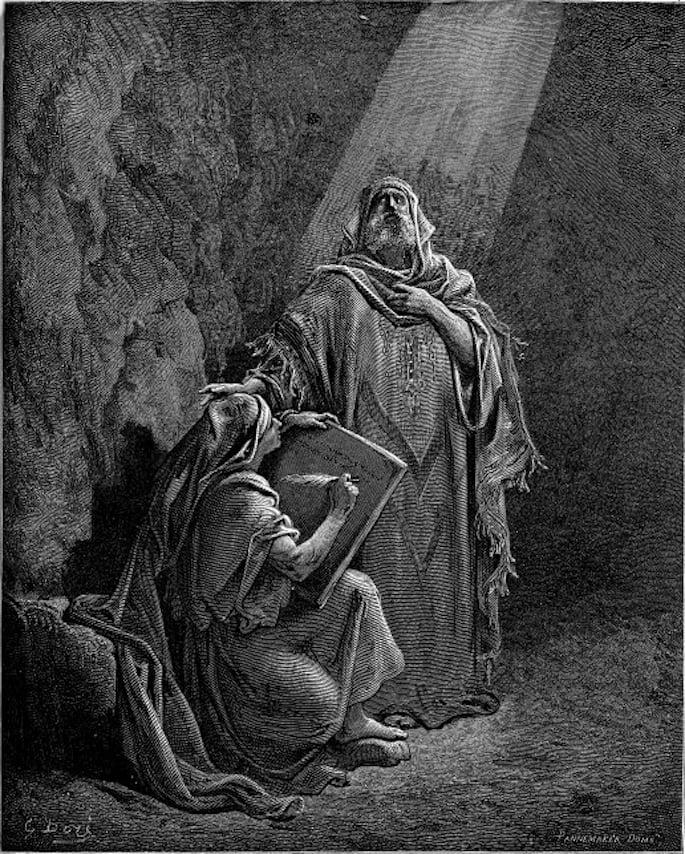 Baruch Writing Jeremiah's Prophecies ( Paul Gustave Doré)