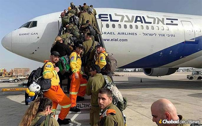An Israeli team of soldiers and aid workers heads to Brazil to help with rescue efforts following the collapse of a dam and ensuing mudslide that has left nearly 40 dead and hundreds missing. (ZAKA Photo)