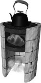 Fig. 1: A small oven inside an oven that heats a winter home