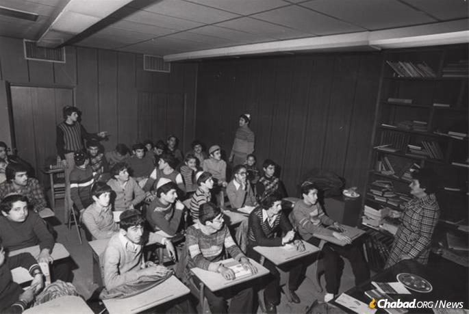 In addition to Jewish education in Farsi, a full school program was created for the Persian children in Crown Heights. (Photo: Courtesy NCFJE)