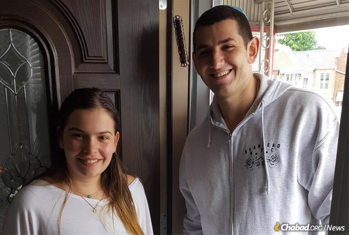 Mitchel and Jasmin Schmargon knew who to call to affix mezuzahs on their newly purchased home in Sea Gate.