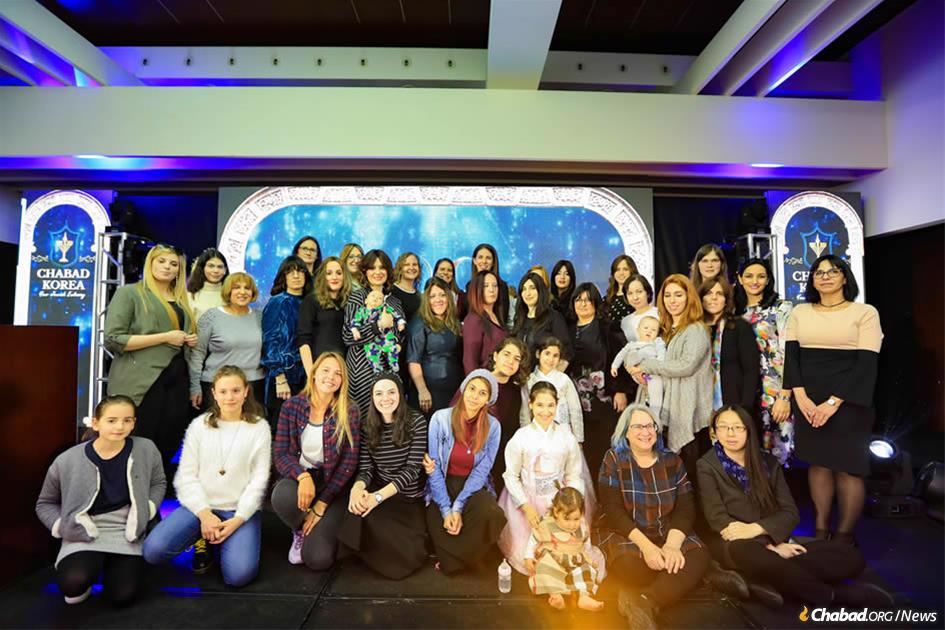 Women from the South Korea Jewish community gather at the grand opening of the first mikvah on the Korean peninsula.