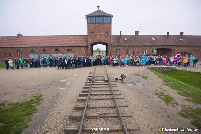 At the gates of Auschwitz