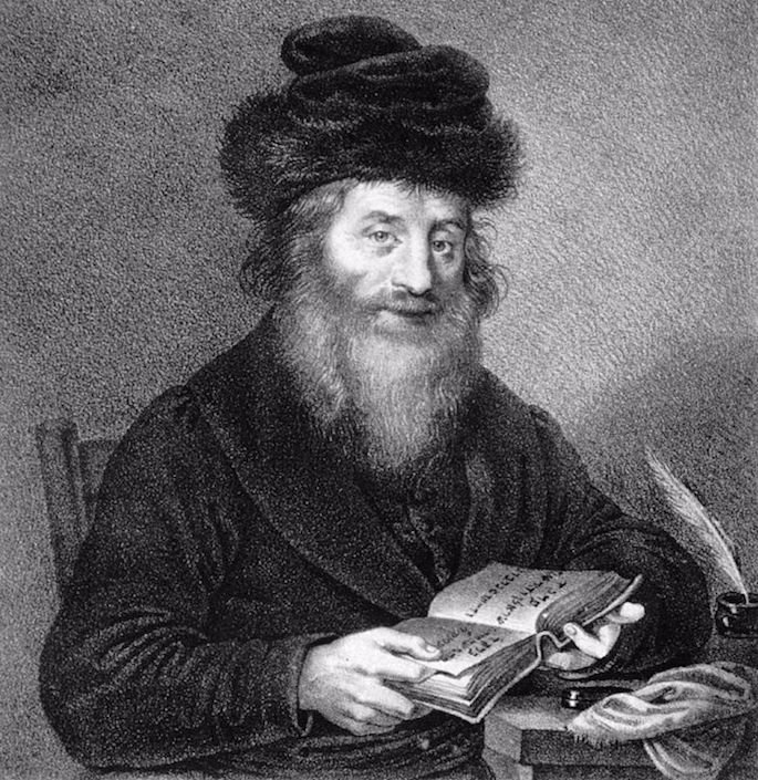 Original lithography of the Chatam Sofer (Rabbi Moshe Schreiber-Sofer) by Josef Kriehuber, circa 1830; now displayed in the Albertina. (Photo by Wikimedia)