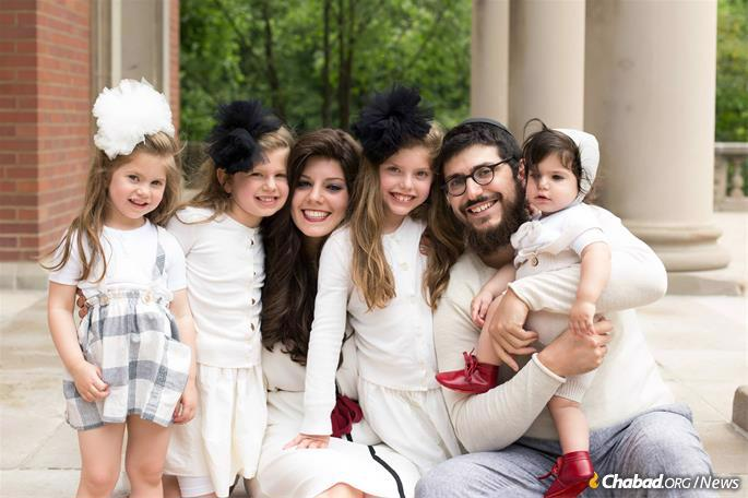 Judah and Chaya Cowen with their four older children
