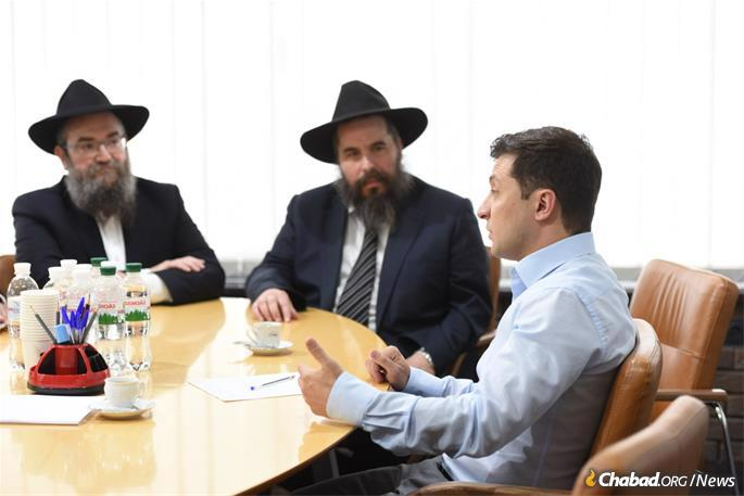 Zelensky hails from the industrial city of Krivoy Rog, and in the meeting recalled to the rabbis the difficulties he experienced growing up as a Jewish child in the Soviet Union.