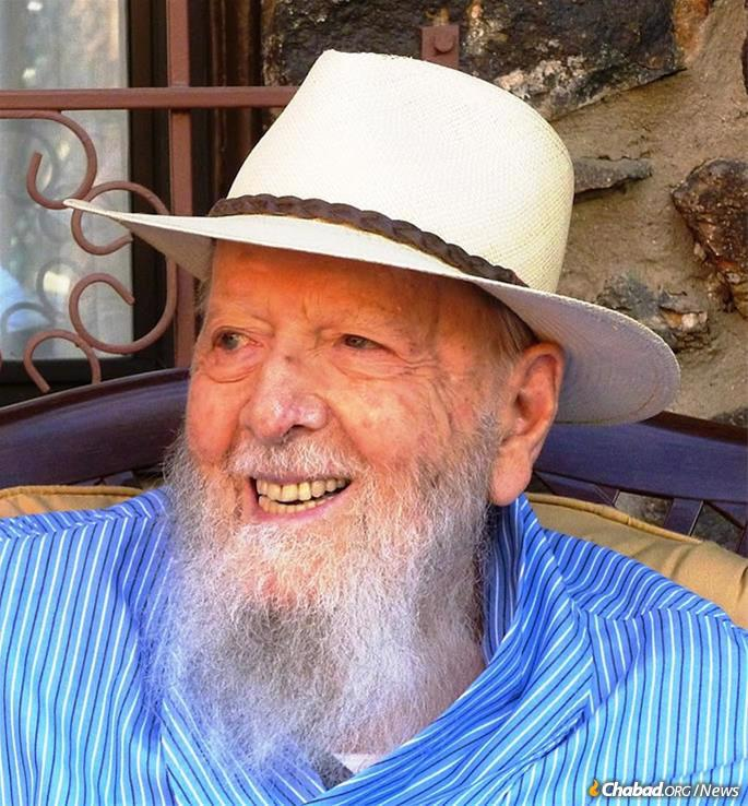 Herman Wouk in 2014 in Palm Springs, Calif., where he was an active member of the Chabad congregation.