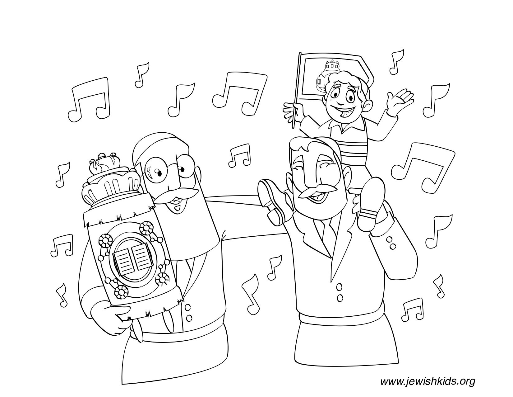 Simchat Torah Coloring Pages Crafts Coloring Pages Jewish Kids
