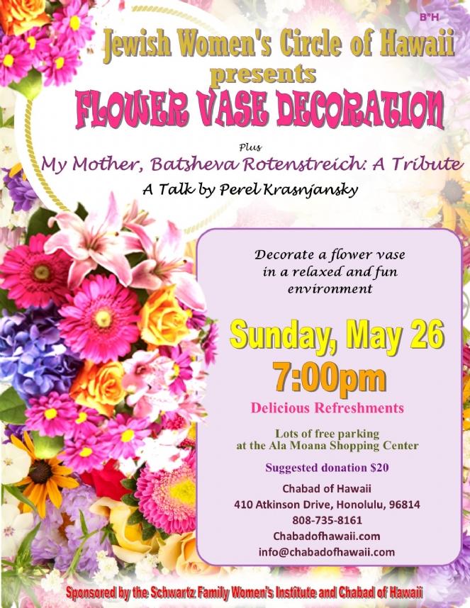 Iyar -May 5779 vase deco+ Mommy yahrtzeit.jpg