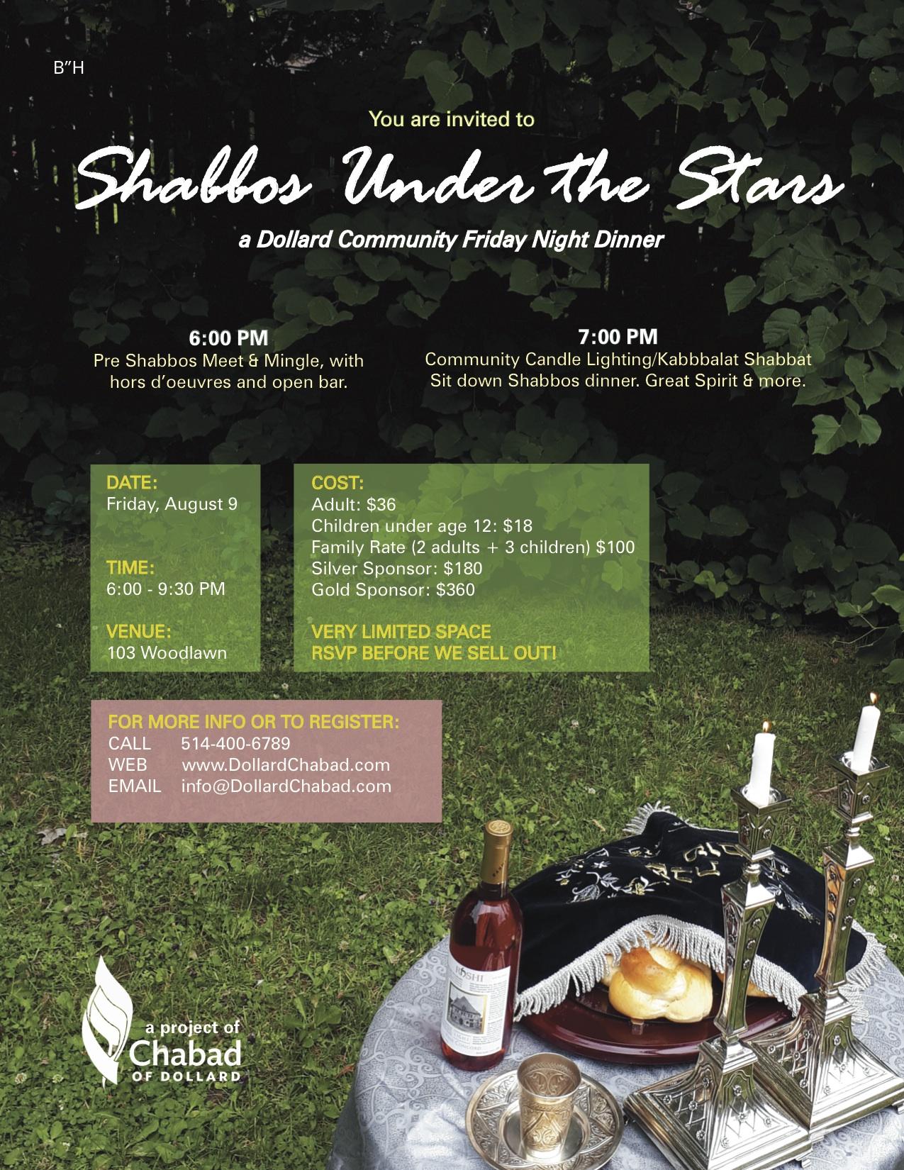 Dollard Chabad Shabbos under the stars