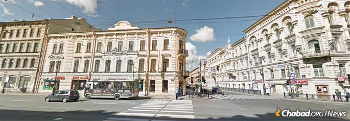 The address at Volodarskogo 23, today Liteyniy Prospect, St. Petersburg.