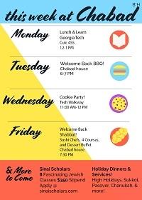 Weekly Schedule!
