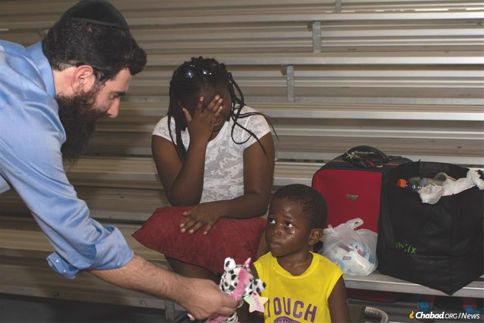 Rabbi Sholom Bluming is coordinating shipments of food, water, toys and more from Jewish communities around the world to those in the Bahamas devastated by Hurricane Dorian. (Photo: Yisroel Chabusha)