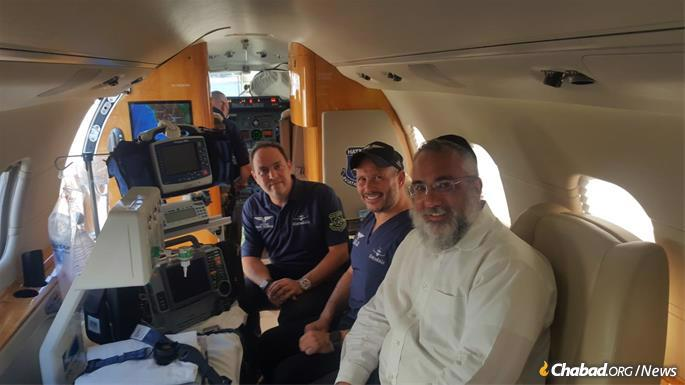 Volunteers from HatzolAir on the cross-country flight.