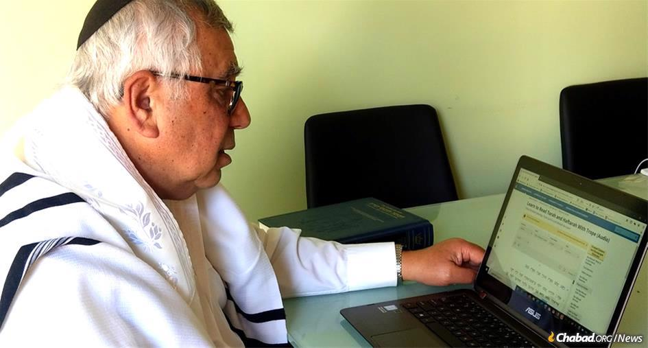 Growing up in Soviet-era Ukraine and now living in Australia, Fima Shmulbard decided at age 67 to continue his Jewish journey with the difficult task of learning how to chant the weekly Haftroah portion in synagogue, doing so with the help of his rabbi and Chabad.org's online Torah Trainer.