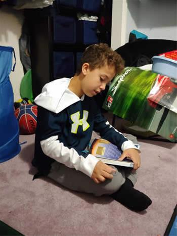 For fifth-grader Eadin Jacobs, his home on Monday nights is temporarily transformed into a Hebrew school for one.