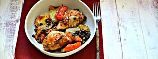 One-Pan Tomato-Olive Chicken with Potatoes