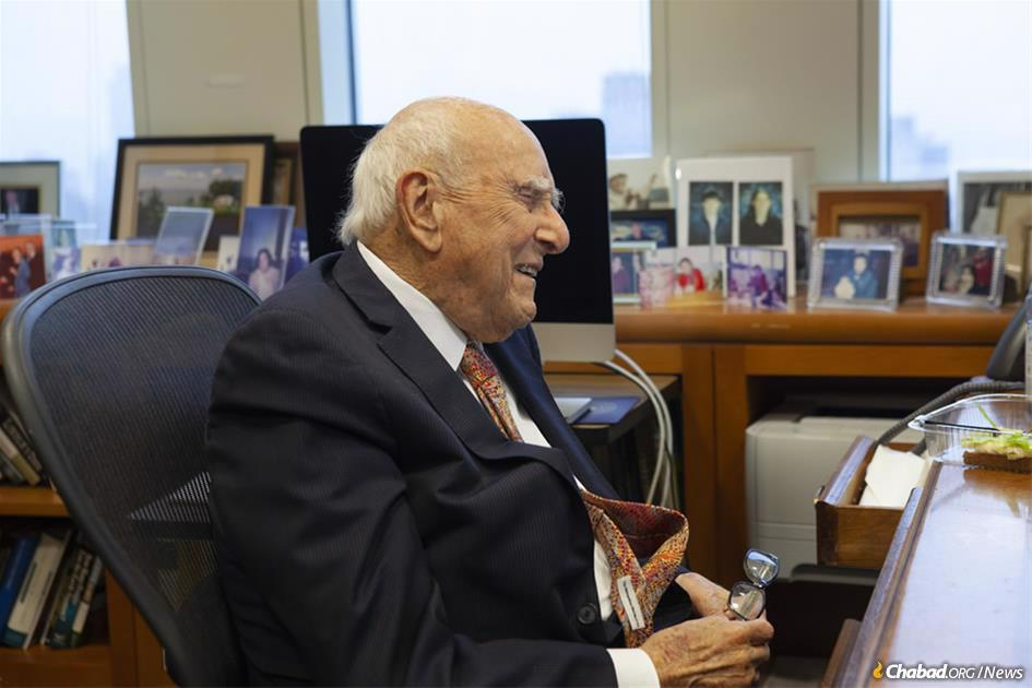 Judge Jack B. Weinstein of the U.S. District Court for the Eastern District of New York talks about his encounters with the Rebbe—Rabbi Menachem M. Schneerson, of righteous memory; his long relationship with the Aleph Institute; and why at age 98 he still feels that there's more to accomplish. (Photo: Moshe Finkelstein/Chabad.org)