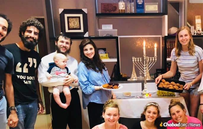 Rabbi Schneur and Yehudis Raitport will soon be celebrating their second Chanukah in the growing Southeast Asian economic center.