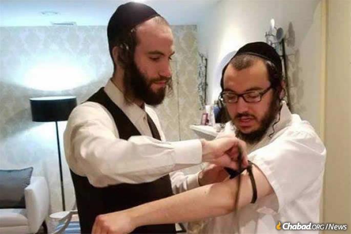 Moshe Deutsch, 24, left, was killed in the attack.