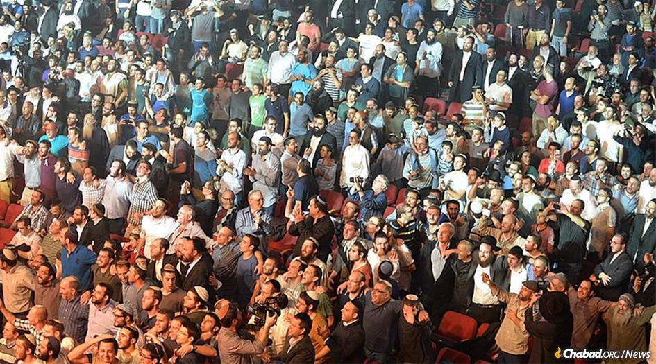 In Jerusalem, more than 10,000 participants are expected to pack into the Binyanei Hauma convention center for a gathering sponsored by the Chabad-Lubavitch Youth Organization in Israel. (File photo: Meir Alfasi)