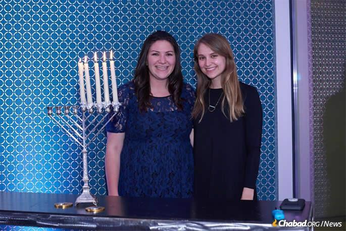 In North Carolina, Rebecca Cook and Susie Jones partipated in the last year's menorah-lighting.