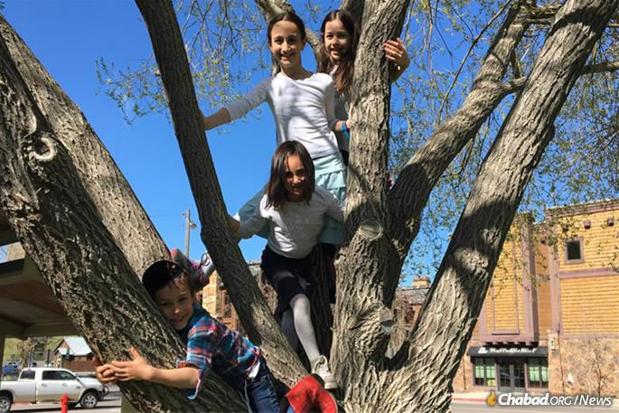 Chayale and her siblings spend most of their day learning Judaic studies from the Shluchim Online School, where they also socialize with their peers.