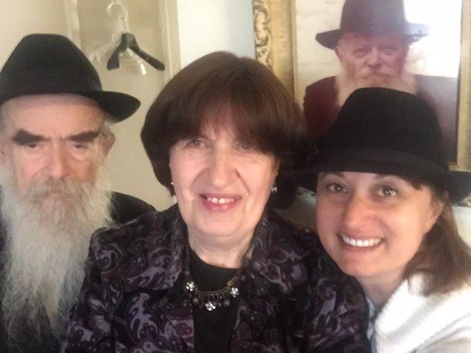 Rabbi Avraham and Rebbetzin Batsheva Shemtov. I am on the right.