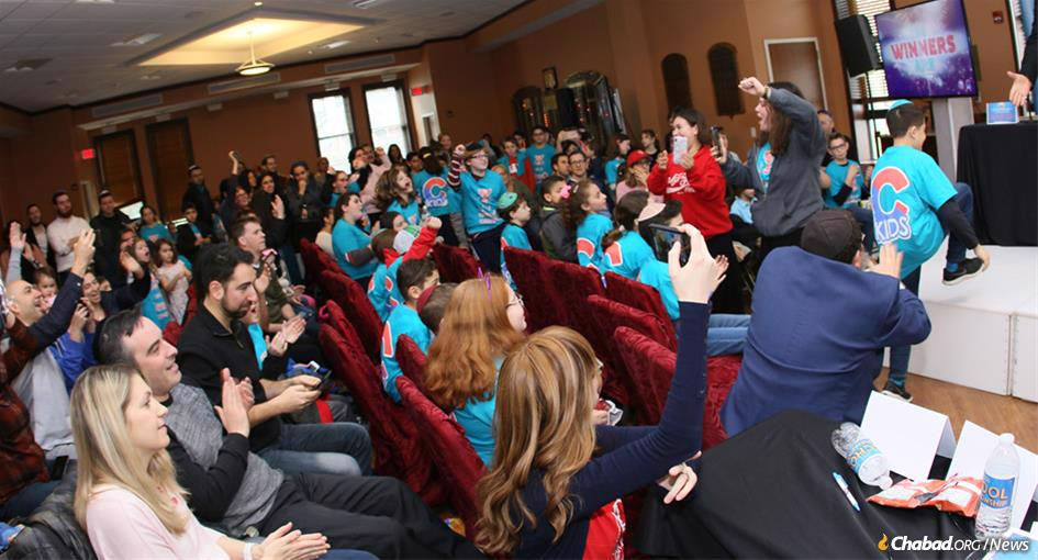 Excitement was in the air at the JewQ competition at Chabad of Dix Hills on Long Island, N.Y.