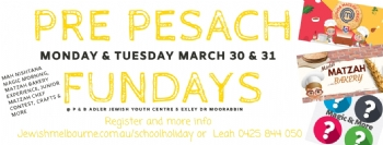 Pre-Pesach Fun Days Mah Nishtana Magic Moning, Junior Matzah Chef Contest & More