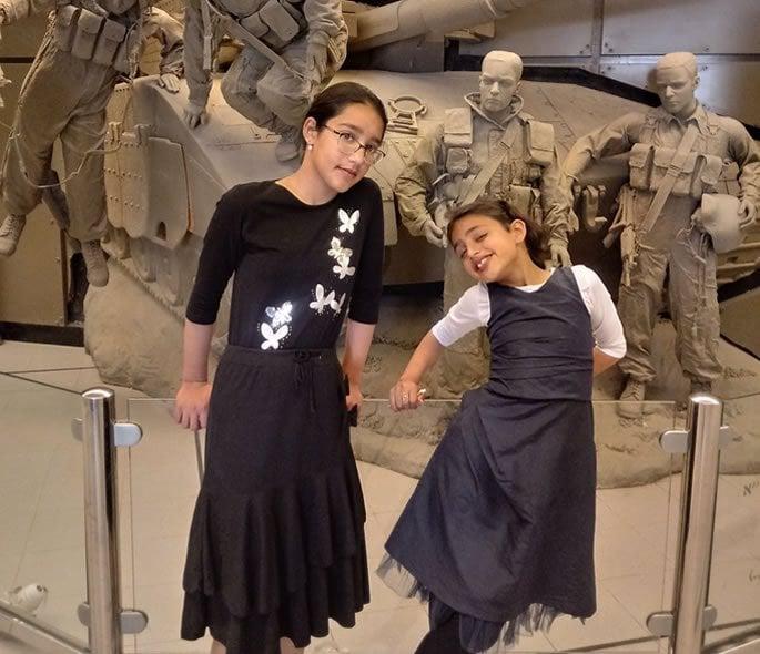 My Jewish Israeli daughters.