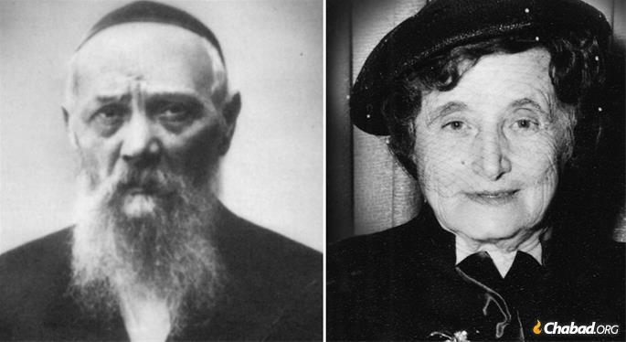 The Rebbe's parents, Rabbi Levi Yitzchak and Rebbetzin Chana Schneerson. (Photos: Kehot Publication Society/JEM)
