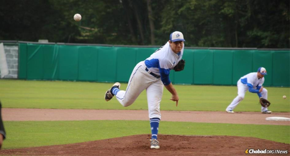 Eric Brodkowitz, a pitcher on Israel's national baseball team competing this summer in the 2020 Olympics in Tokyo, was a regular at Chabad on Campus as an undergraduate at Yale University, and remains close with the campus rabbi and his family. (Photo: Margo Sugarman)