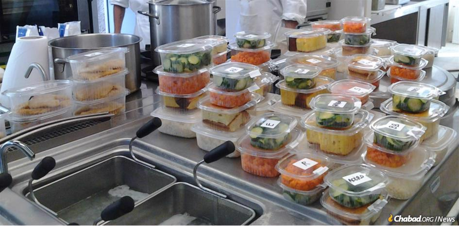 To help ensure that no one in Milan goes hungry during the coronavirus health crisis, Chabad of Milan's soup kitchen is continuing to operate under the close supervision of government health authorities, as are Chabad synagogues and institutions throughout Italy. (File photo)