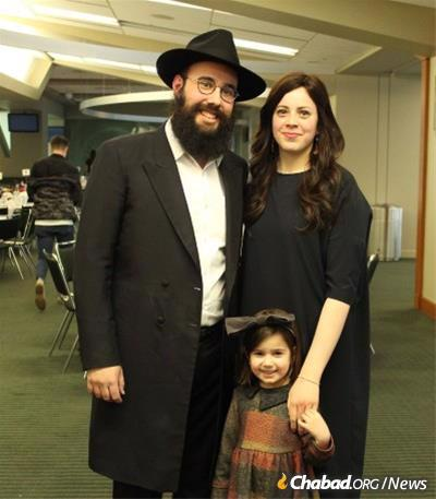 Rabbi Bentzion and Simi Shemtov, co-directors of the Chabad Student Center at MSU