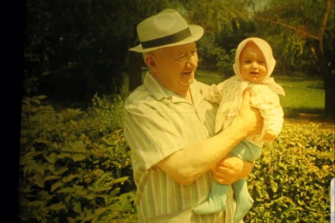 With my great-grandfather David.