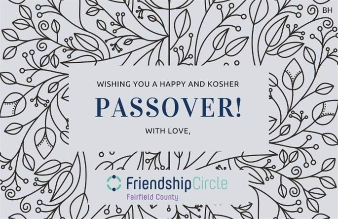Friendship Circle of Fairfield County, Conn., has launched a number of at-home projects like custom-designed Passover greeting cards.