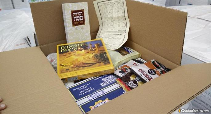 More than 2,000 Seder-to-Go kits will be sent out to individuals who have previously participated in one of Colel Chabad's communal Passover Seders this year and to others who need them. The food package will include a full Seder experience complete with Haggadah, shmurah matzah, wine and a Seder guide. Also included are kosher staple items for the holiday.