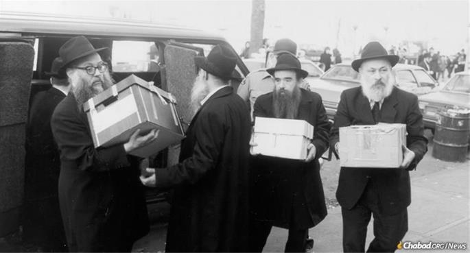 From left: Rabbi Groner, Rabbi Dovid Raskin, Rabbi Abraham Shemtov and Rabbi Yehuda Krinsky