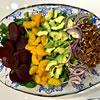 Greens with Beets, Avocado & Mandarin Segments