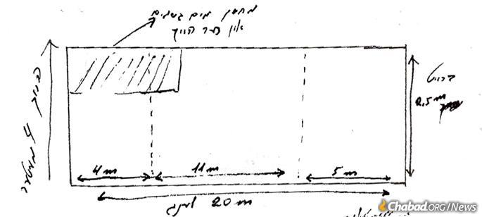 1989 plans for a new mikvah to be constructed in Rostov-on-Don. Credit: Archives of Ezras Achim.
