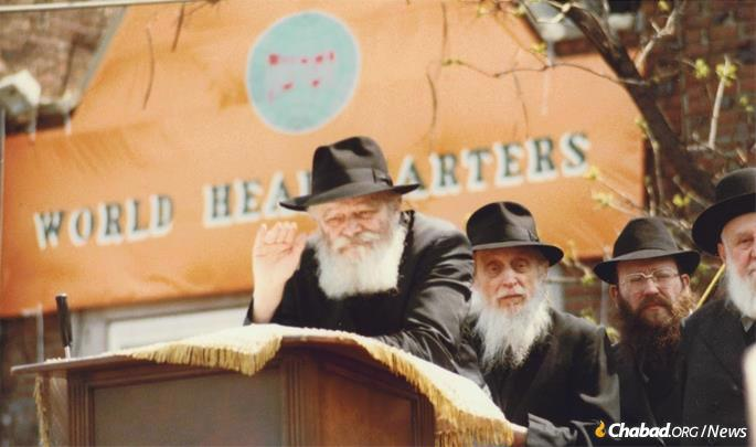 Noting not-too subtly, the Rebbe said that he hoped his address was being heard in the Soviet Union. Between the KGB and recordings surreptitiously sent into the Soviet Union, it was.