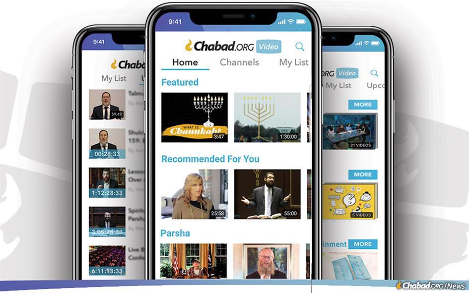 The heavy increase in online video demand and traffic comes just as Chabad.org Video rolled out a modern, fresh interface designed to help viewers more easily explore its content. A new video app for Apple and Android devices has also been released, as has a kids' video app.