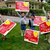 As Coronavirus Lingers, Lawn Signs Display Messages of Positivity