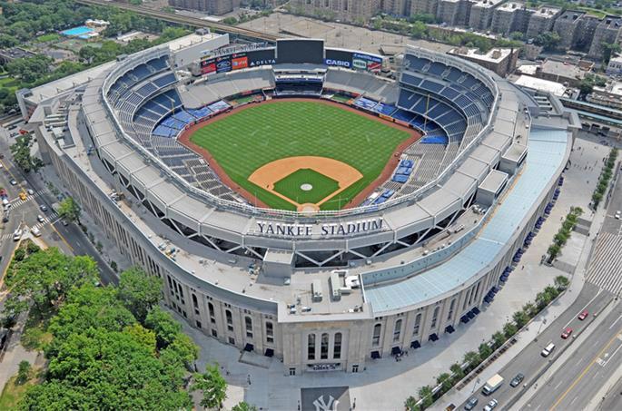 Yankee Stadium bereft of fans (Wikimedia/Groupe Canam)