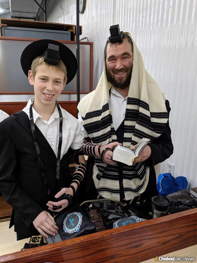 The Dukes family recently celebrated their son's bar mitzvah at the Ohel.