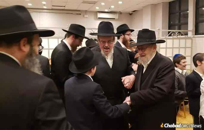 Celebrating at a grandson's bar mitzvah